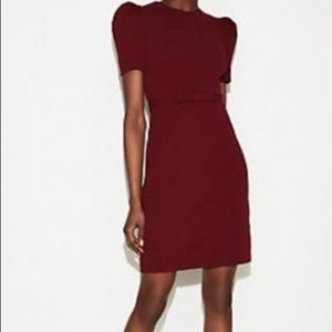 Express gathered sleeve sheath dress